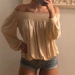 Flowy off the shoulder long sleeve